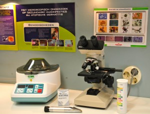 Laboratorium met o.a. urine onderzoek